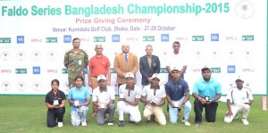 Age group winners from the Faldo Series Bangladesh Championship.