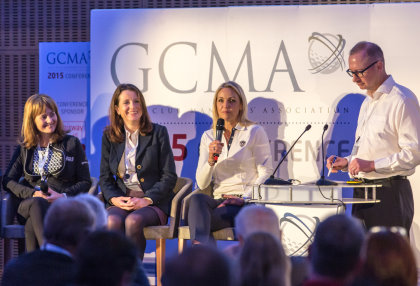 Alison Root [far left], Emma Clifford [second left], Carin Koch and panel moderator Gary Firkins. Picture by Golf Business News
