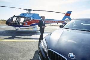 Sergio Garcia arrived in style.