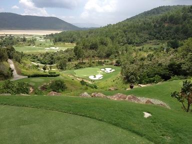 The view from the par-three third hole at The Dalat at 1200.