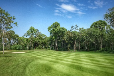 The fourth hole at Vinpearl Golf Nha Trang.
