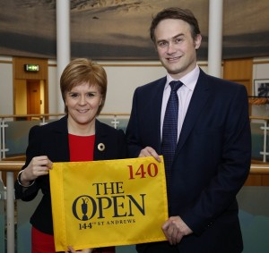 First Minister Nicola Sturgeon and Johnnie Cole-Hamilton, The R&A's Executive Director - Championships.