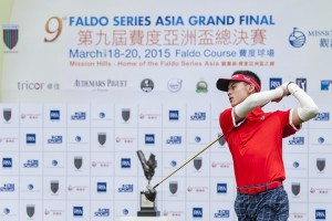 Tirto Tamardi teeing-off at last year's Faldo Series Asia Grand Final. Picture by Xaume Olleros/ Power Sport Images