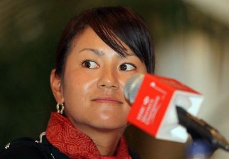 Ai Miyazato will grace the fairways at Sentosa Golf Club next week.