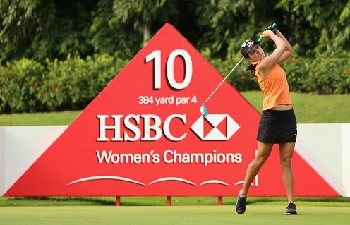 Lexi Thompson will line up at Sentosa next month. Picture by Andrew Redington/Getty Images