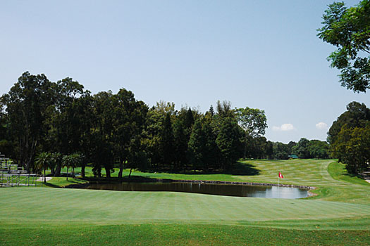 The 18th at the Hong Kong Golf Club's Eden Course.