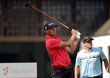 Jamie Arnold in action during the final round of the OneAsia 2016 Qualifying School. Picture by Paul Lakatos/OneAsia.