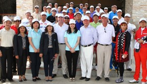 Officials and guests at an Invitational tournament to mark the upgrades at Mountain Creek,