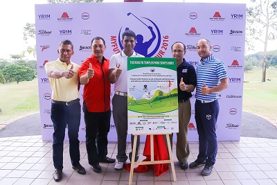 Officials and sponsors at the unveiling of the MYFutures Junior Tour.