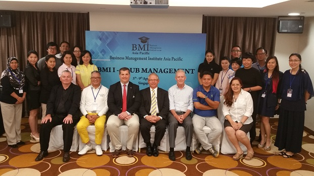 Delegates and presenters at the BMI Course.