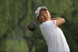 Cheng Jin is lining up at this week's Masters Tournament.