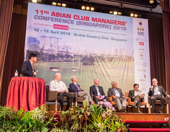 AGIF CEO Eric Lynge [far right] responds to a question during the President's Panel session. Picture Joel Chan