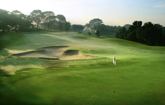 The eighth hole at Riverside Golf Club.