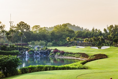 The seventh hole at TPC Kuala Lumpur's East Course.