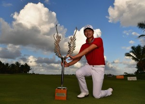 Wang Jeung-hun won the AfrAsia Bank Mauritius Open. Picture by Stuart Franklin/Getty Images