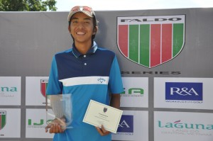 Lanz Uy was the overall winner of the Faldo Series Philippines Championship at Eagle Ridge.