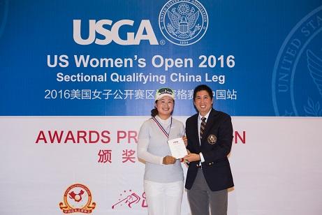 Liu Yan is congratulated on her success.