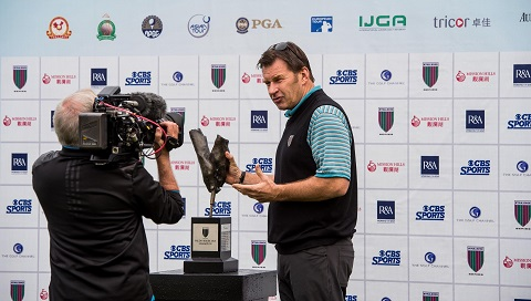 Nick Faldo expects his Eagle Ride course to pose a test at next week's Philippines Championship. Picture by Xaume Olleros.