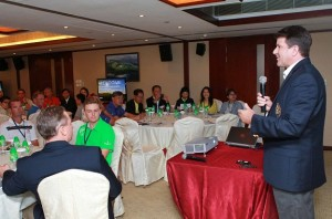 The USGA's Steven Edmonson at the Asian Course Rating Seminar in Hong Kong. Picture by HK Golfer