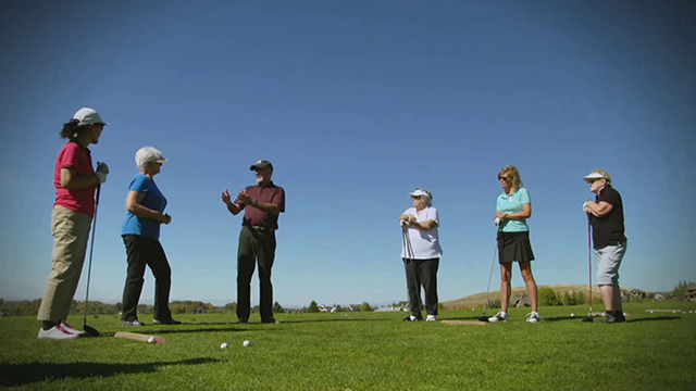 PGA Professional Mark Holiday, Director of Golf at Bridger Creek Golf Course, introduces his students to golf in a fun, welcoming environment perfect for learning the game. Picture by PGA of America