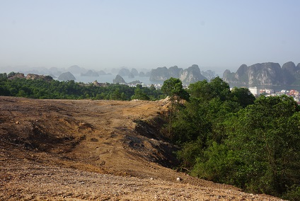 Golfers will enjoy spectacular views at the par-three eighth hole at FLC Halong Bay Golf Club and Resort.
