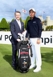 Wentworth's Stephen Gibson with An Byeong-hun. Picture by Andrew Redington/Getty Images