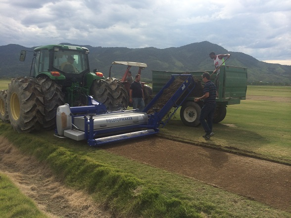 Koro FTM with Universe Rotor being used to harvest sprigs in Brazil for Rio.