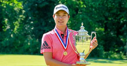Seong Eun-jeong retained her US Girls' Junior Championship trophy. Picture by USGA