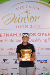 Nguyen Thao My won the Faldo Series Vietnam Championship for the third year in succession.