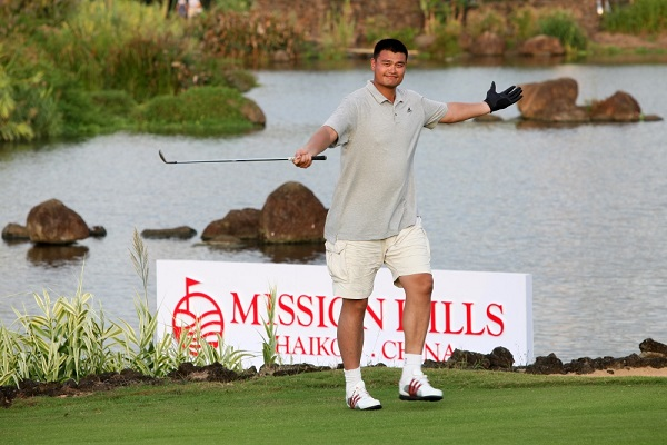Yao Ming will line-up in October's World Celebrity Pro-Am.