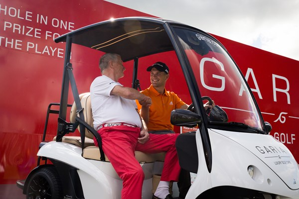 Sebastian Cappelen won two luxury Garia golf cars for his ace at 16. Picture by Jess Anderson/Getty Images