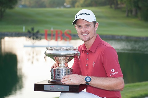 Justin Rose will return to Fanling in December to defend his UBS Hong Kong Open title. Picture by Xaume Olleros/Power Sport Images