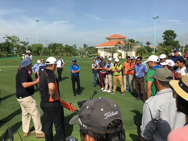 The Eclipse 122F demonstration attracted a lot of interest at the Vietnam event.