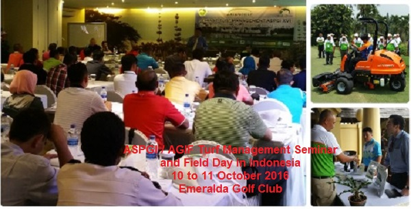 Indonesian event 10 to 11 October at Emeralda Golf Club!
