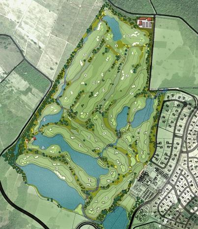 Masterplan of the Master Golf Resort.