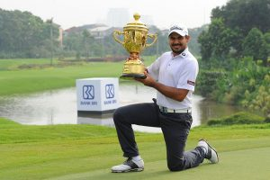 Gaganjeet Bhullar completed victory on Monday morning.