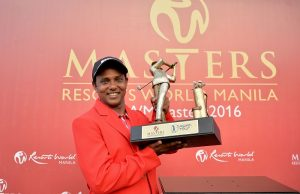 SSP Chawrasia after winning the Resorts World Manila Masters. Picture by Khalid Redza/Asian Tour