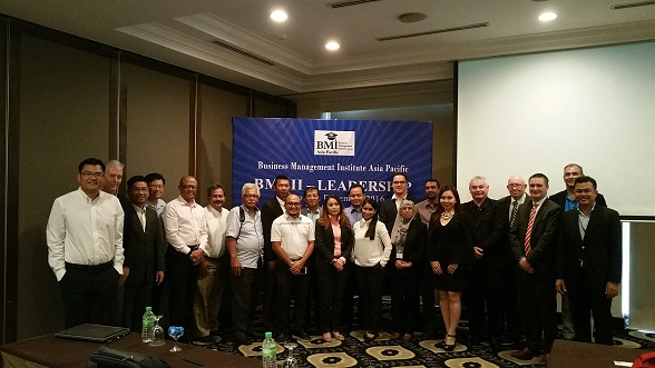 Delegates and presenters at the BMI Leadership Course at the TPC Kuala Lumpur .