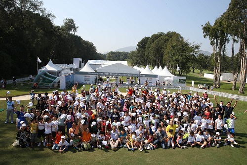 Last year, more than 350 youngsters accompanied by their parents took part in the inaugural UBS Hong Kong Open 'Community Open Day', part of the grassroots programme put in place around the tournament to introduce golf to a broader audience.