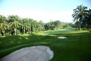 The first green at Saujana's Palm Course.