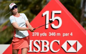 Paula Creamer will line up in this week's HSBC Women's Champions at Sentosa Golf Club. Picture by Ross Kinnaird/Getty Images
