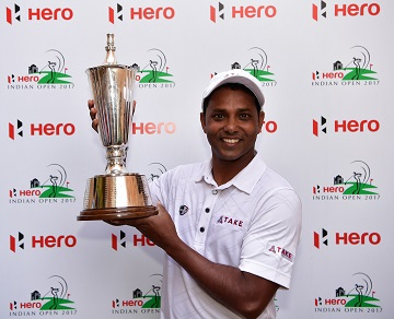 SSP Chawrasia retained his title at the Hero Indian Open. Picture by Stuart Franklin/Getty Images