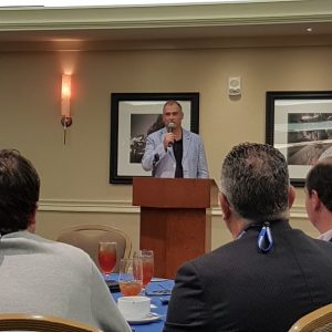 Steven Thielke speaking at the luncheon.