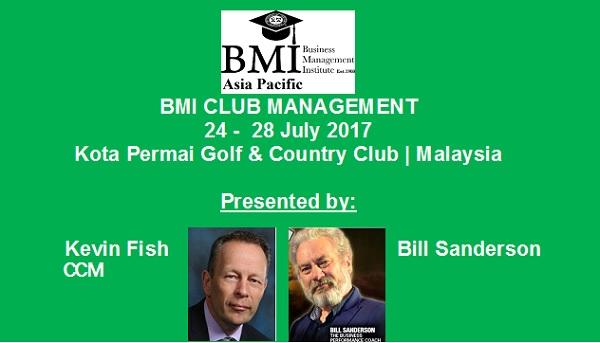 BMI Club Management – 24 to 28 July @ Kota Permai