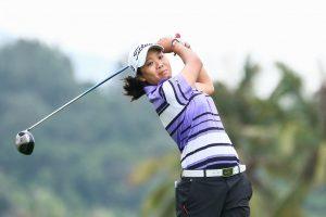 Benyapa Niphatsophon en route to victory at the China LPGA Tour Qualfiying Tournament.