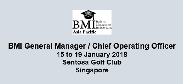 Dates for BMI GM / COO confirmed!