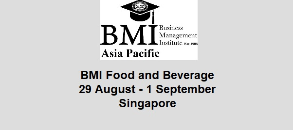 BMI F&B to be held in August in Singapore