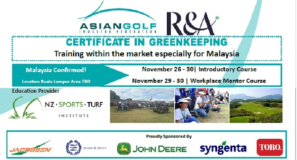 Inaugural Launch of Certificate in Greenkeeping in Malaysia